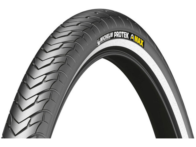 "Michelin Protek Max Bike Tyre 28"", wire bead, Reflex black"